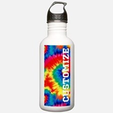 Personalized Retro Tie Dyed Pattern Water Bottle