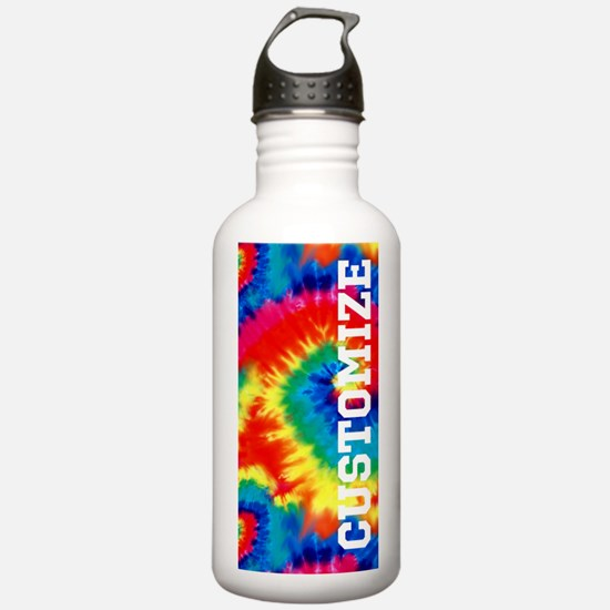 Personalized Retro Tie Dyed Pattern Water Bottle