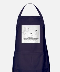 Don't Worry about Vaccines Comic Apron (dark)