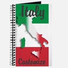 Customized Italy Italian Flag Journal