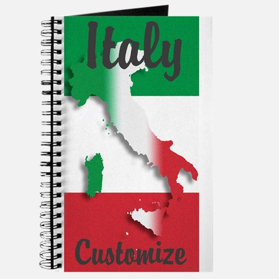Customized Italy Italian Flag Journal