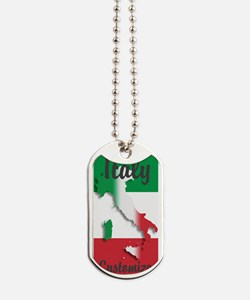 Customized Italy Italian Flag Dog Tags