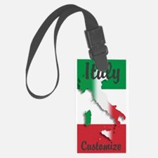 Customized Italy Italian Flag Luggage Tag