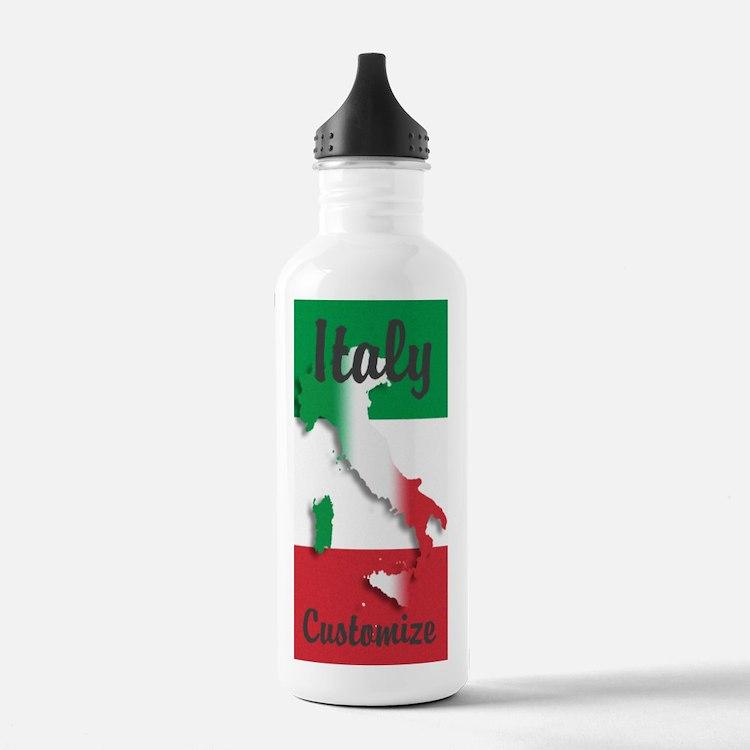 Customized Italy Italian Flag Water Bottle