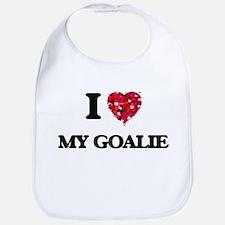 I Love My Goalie Bib