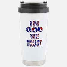 In God Camo Stainless Steel Travel Mug
