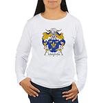 Moutinho Family Crest  Women's Long Sleeve T-Shirt