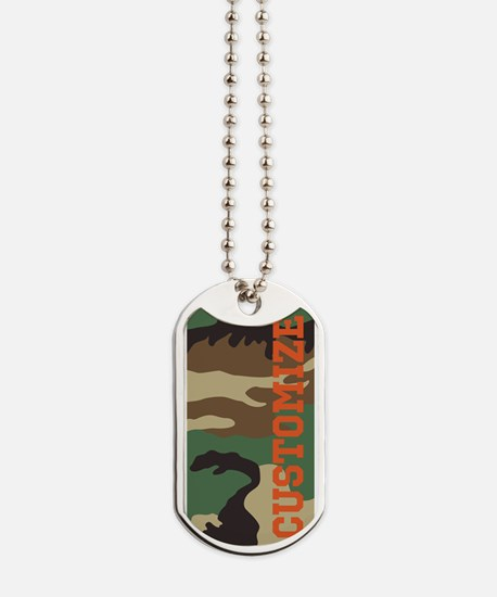 Personalized Camouflage Print Dog Tags