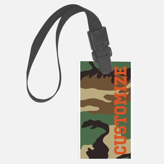 Personalized Camouflage Print Luggage Tag