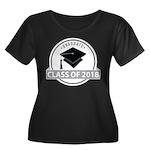 Class Of Women's Plus Size Scoop Neck Dark T-Shirt