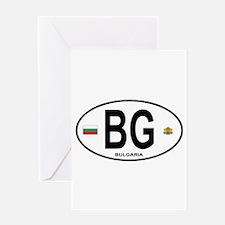 Bulgaria Euro Oval Greeting Card