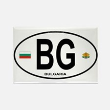 Bulgaria Euro Oval Rectangle Magnet