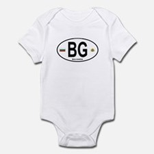 Bulgaria Euro Oval Infant Bodysuit