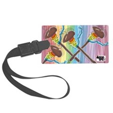 Rainbow Spindles Luggage Tag