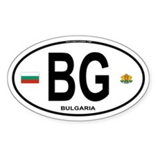Bulgaria Euro Oval Oval Decal
