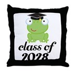 Class Of 2028 frog Throw Pillow