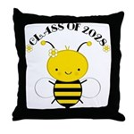 Class Of 2028 bee Throw Pillow