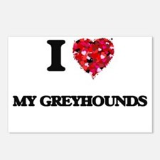 I Love My Greyhounds Postcards (Package of 8)