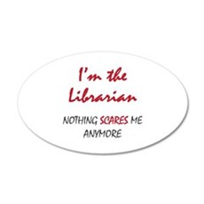 Nothing Scares Librarian Wall Decal