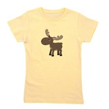 Cartoon Moose Girl's Tee