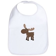 Cartoon Moose Bib