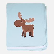 Cartoon Moose baby blanket