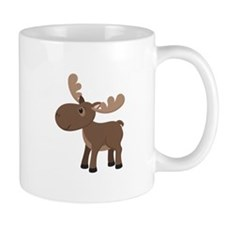 Cartoon Moose Mugs