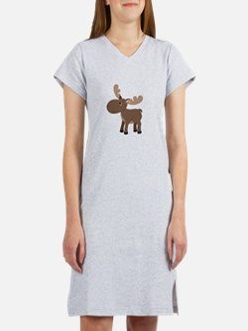 Cartoon Moose Women's Nightshirt