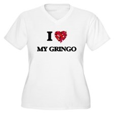 I Love My Gringo Plus Size T-Shirt