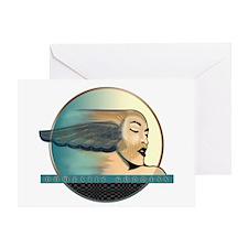 Domestic Goddess 2 Blue Greeting Cards