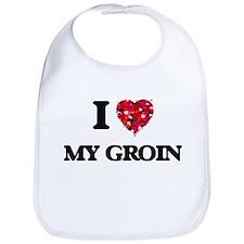 I Love My Groin Bib