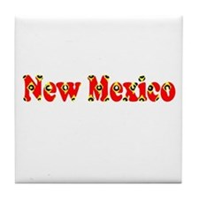 New Mexico Red Cool Pattern Jerry's F Tile Coaster