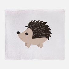 Cartoon Porcupine Throw Blanket