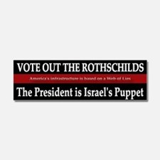 Vote Out The Rothschilds - Car Magnet 10 X 3
