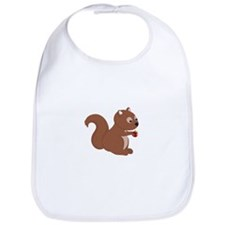 Cartoon Squirrel Bib