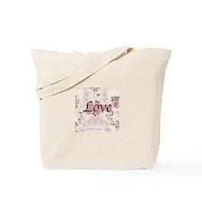 Pink Roses Love Tote Bag