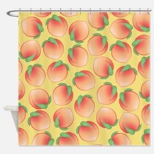 Cute Peach Pattern Shower Curtain