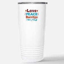 Love Peace Burritos Travel Mug