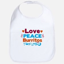 Love Peace Burritos Bib