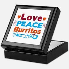 Love Peace Burritos Keepsake Box