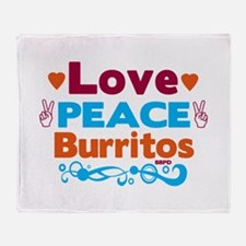 Love Peace Burritos Throw Blanket