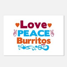 Love Peace Burritos Postcards (Package of 8)