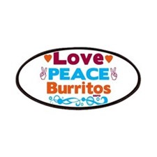 Love Peace Burritos Patch