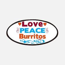 Love Peace Burritos Patch