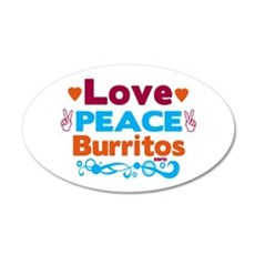 Love Peace Burritos Wall Decal