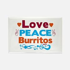 Love Peace Burritos Magnets