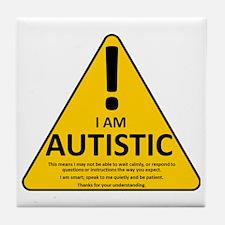 Autism Triad Tile Coaster