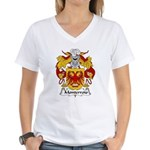 Monterroio Family Crest Women's V-Neck T-Shirt