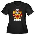 Monterroio Family Crest Women's Plus Size V-Neck D