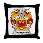 Monterroio Family Crest Throw Pillow